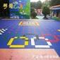 佛山幼儿园地面操场塑胶地板安全防滑不褪色悬浮拼装地板厂家安装