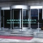 厂家直销 办公楼自动旋转门 水晶门 自动门 A级 玻璃旋转门
